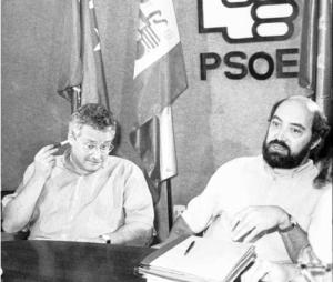Joaquín Leguina y José Acosta, en una imagen de 1990.