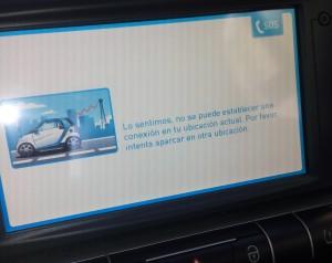 Mensaje en la pantalla del Smart...